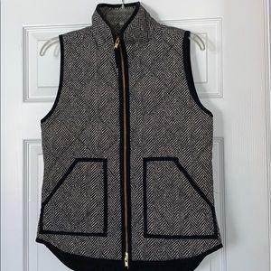 J. Crew black and white vest
